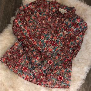 Super fun print blouse!